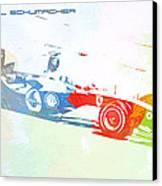 Michael Schumacher Canvas Print by Naxart Studio
