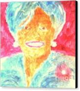 Michelle Obama 2 Canvas Print by Richard W Linford