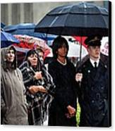 Michelle Obama Attends A Wreath Laying Canvas Print by Everett