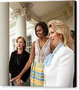 Michelle Obama Hosts First Lady Canvas Print by Everett