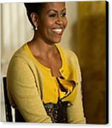 Michelle Obama Wearing A J. Crew Canvas Print by Everett
