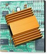 Microchip Processor Heat Sink Canvas Print by Sheila Terry