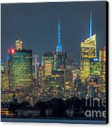 Mid-town Manhattan Twilight I Canvas Print by Clarence Holmes