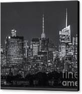 Mid-town Manhattan Twilight II Canvas Print by Clarence Holmes