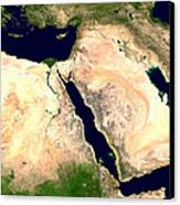 Middle East Canvas Print by Nasa