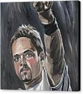 Mike Piazza Canvas Print by David Courson