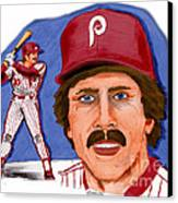 Mike Schmidt-color Canvas Print by Chris  DelVecchio