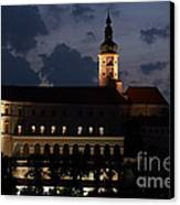 Mikulov Castle At Night Canvas Print by Michal Boubin