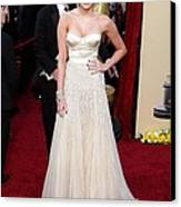 Miley Cyrus Wearing A Jenny Packham Canvas Print by Everett