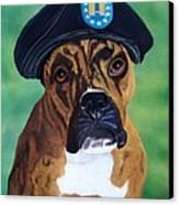 Military Boxer Canvas Print by Debbie LaFrance