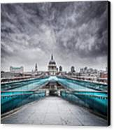 Millenium Bridge London Canvas Print by Martin Williams