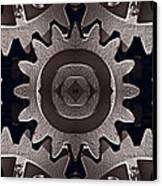 Mirror Gears Canvas Print by Steve Gadomski