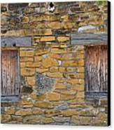 Mission Dwelling Windows Canvas Print by Peter  McIntosh
