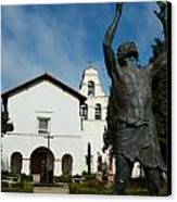 Mission San Juan Bautista Canvas Print by Jeff Lowe