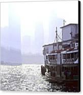 Mist Over Victoria Harbour Canvas Print by Enrique Rueda
