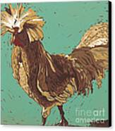Mister Fowler - Linocut Print Canvas Print by Annie Laurie