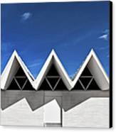 Modern Building Roofing Canvas Print by Eddy Joaquim