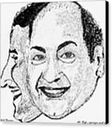 Mohammed Rafi Sketch Younger And Older Canvas Print by Ashok Naraian