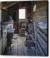 Molson Ghost Town Storage Shed Canvas Print by Daniel Hagerman