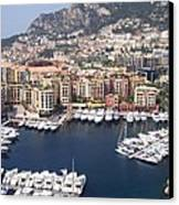 Monaco Harbour Canvas Print by Marlene Challis