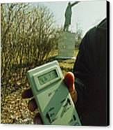 Monitoring Fallout Levels From Chernobyl. Canvas Print by Ria Novosti