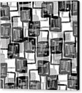 Monochrome Squares Canvas Print by Louisa Knight
