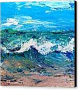 Moody Beach In A Mood Canvas Print by Scott Nelson