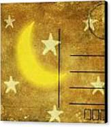 Moon And Star Postcard Canvas Print by Setsiri Silapasuwanchai