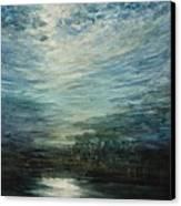 Moon Shimmer Canvas Print by Estephy Sabin Figueroa