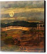 Moonlight Stroll Canvas Print by Kathy Jennings