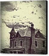 Moonlit Night Canvas Print by Kathy Jennings