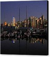 Moored For The Night Canvas Print by Will Borden