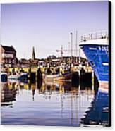 Moored Up Canvas Print by Chris Cardwell