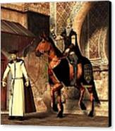 Mordechai And Haman Canvas Print by Daniel Eskridge