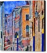 Morning Calm In Venice Canvas Print by Jeff Kolker