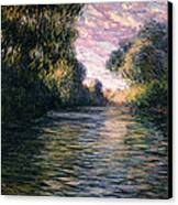 Morning On The Seine Canvas Print by Claude Monet