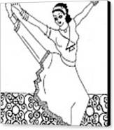 Moroccan Dancer Canvas Print by John Keaton