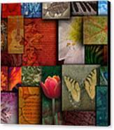 Mosaic Earth Tone Nature Rough Patterns Canvas Print by Angela Waye
