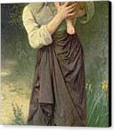 Mother And Child Canvas Print by William Adolphe Bouguereau