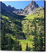 Mountains In North Cascades National Park Canvas Print by Pierre Leclerc Photography