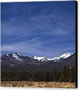 Mountains In The Desert Canvas Print by Andrew Soundarajan