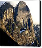 Mountains Of Yosemite . 7d6167 . Vertical Cut Canvas Print by Wingsdomain Art and Photography