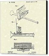 Mouth Organ 1876 Patent Art Canvas Print by Prior Art Design