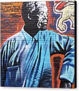 Mr. Nelson Mandela Canvas Print by Juergen Weiss