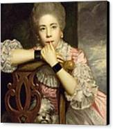 Mrs Abington As Miss Prue In Congreve's 'love For Love'  Canvas Print by Sir Joshua Reynolds