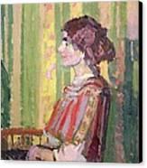 Mrs Robert Bevan Canvas Print by Harold Gilman
