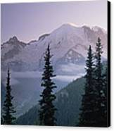 Mt Rainier As Seen At Sunrise Mt Canvas Print by Tim Fitzharris