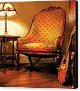 Music - String - The Chair And The Lute Canvas Print by Mike Savad