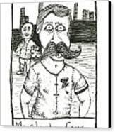 Mustache Envy Canvas Print by Michael Mooney