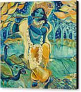 My Krishna Is Blue Canvas Print by Ashleigh Dyan Bayer